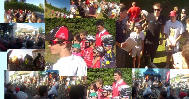 les professionnelles du tour de France avec les enfants