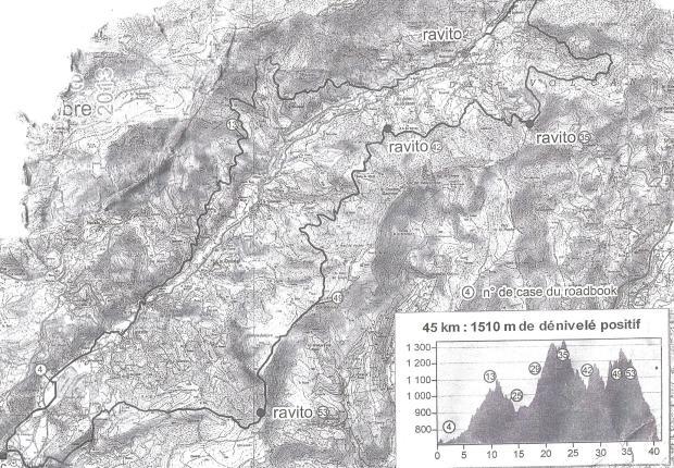 la carte du  Dériv'chaîne
