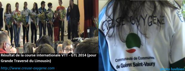 Résultat de la course internationale VTT - GTL 2014 (pour Grande Traversé du Limousin).