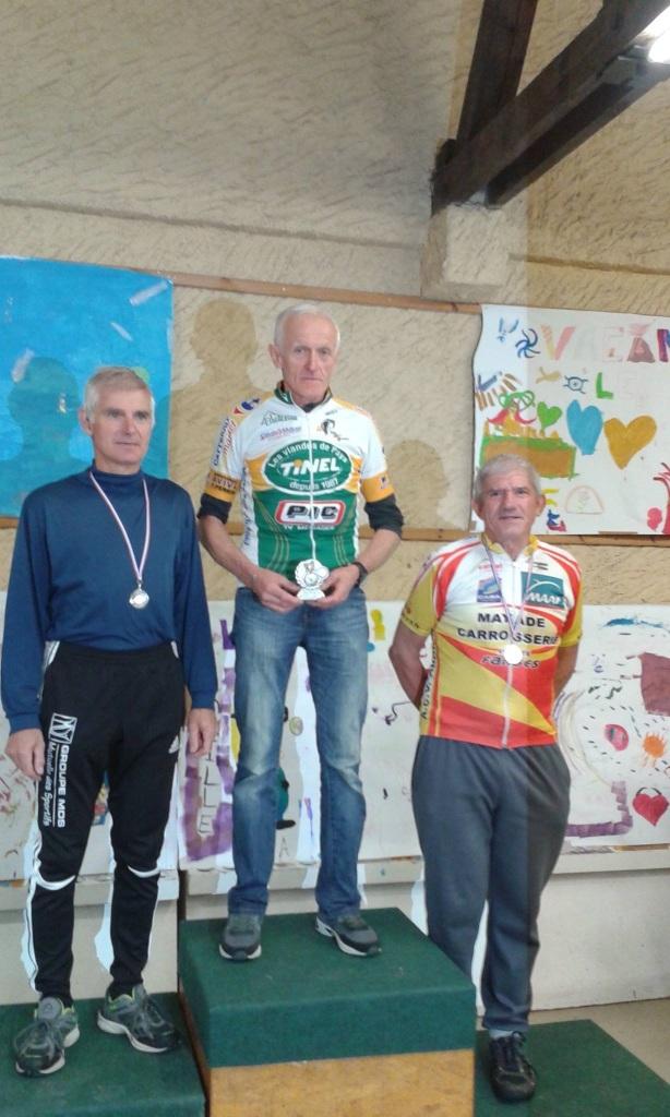 Arivé a Ceyrat Lucien Vibien medaille